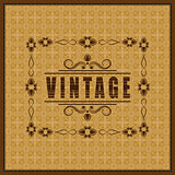 The vector vintage frame