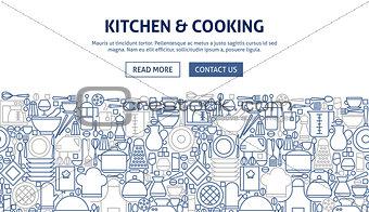 Kitchen Cooking Banner Design