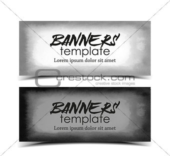 Watercolor template banners