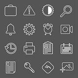 Set with mail icons in modern style. High quality symbols for web site design and mobile apps. Simple mail pictograms on a whitr background