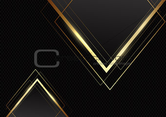 Abstract background with gold triangles on carbon fibre texture