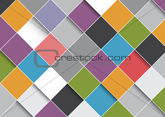 Abstract design background with squares pattern