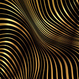 Gold pattern striped background