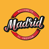 Madrid. Hand lettering. Vector illustration.