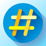 Hashtags Icon Flat tweet vector social media community sign symbol
