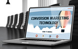 Conversion Marketing Technology Concept on Laptop Screen. 3d