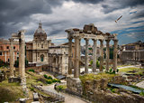 Dark clouds over Rome