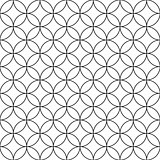 Vector seamless circles pattern - simple ornamental background