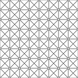 Seamless ornamental pattern - simple design. Vector geometric background