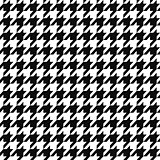 Seamless textile geometric pattern - black and white design. Vector background