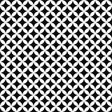 Vector seamless stylish geometric pattern - black and white texture