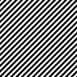 Vector diagonal striped background - black and white seamless geometric pattern