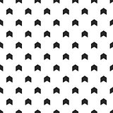 Vector arrows background - hand drawn design. Seamless stylish pattern