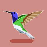 Flat polygonal Hummingbird