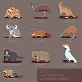 Set of flat geometric species of Australia