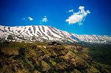 Landscape view to mountains and Kadisha Valley aka Holy Valley , Lebanon