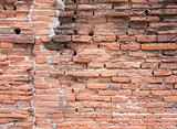 Ancient brick wall.