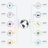 Vector illustration infographics 10 options