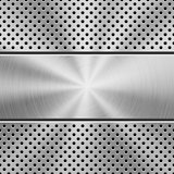 Metal Background with Perforated Pattern