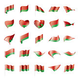 Belarus flag, vector illustration
