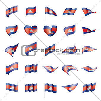 Cambodia flag, vector illustration