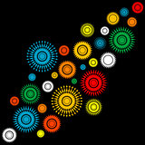 Abstract background with colorful round shapes