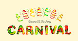 Colorful 3d text carnival.
