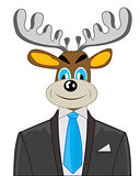 Deer in suit