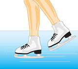 Legs in skates