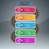 Road infographic design template and marketing icons.