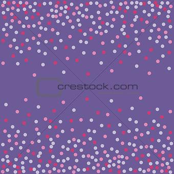 Ultra violet. Confetti backdrop.