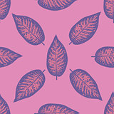 Dieffenbachia ultra violet tropical leaf seamless pattern