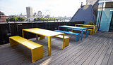 Roof terrace break area at a London business premises