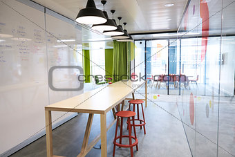Casual meeting area in an empty business premises