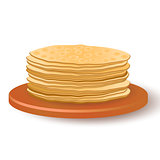 A stack of delicious delicious pancakes