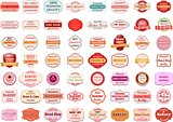 Collection of vintage retro bakery logo badges and labels