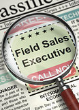 Field Sales Executive Job Vacancy. 3D.