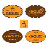 Set of retro chocolate labels