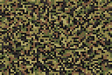 Seamless forest pixel camouflage