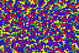Seamless bright colorful pixel background