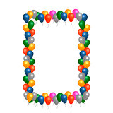 Helium balloons vector frame