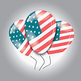 Ballons with USA flag