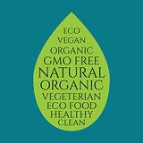 Organic food leaf banner