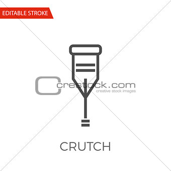 Crutch Vector Icon