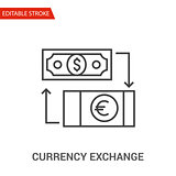 Currency exchange Icon. Thin Line Vector Illustration