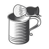 Shaving mug and brush