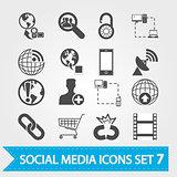 Social media icons set 7