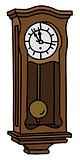The vintage pendulum clock