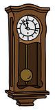 The vintage pendulum clock