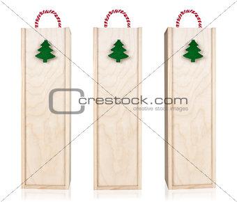 Christmas Box Vine Isolated on White